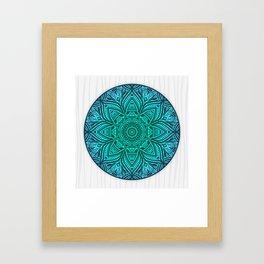 Mandala Aqua Framed Art Print
