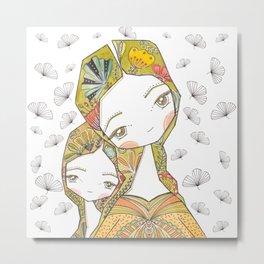 Floral Motherhood Metal Print