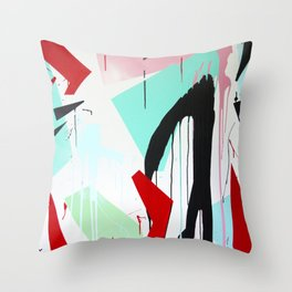 Red Rive Throw Pillow
