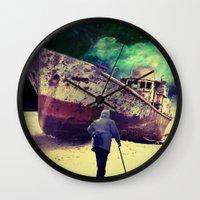 ship Wall Clocks featuring Ship by Cs025