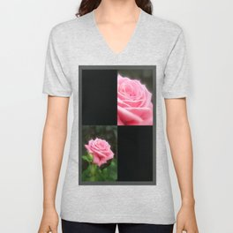 Pink Roses in Anzures 3 Blank Q2F0 Unisex V-Neck