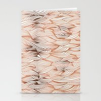 rose gold Stationery Cards featuring Rose Gold Waves by Cat Coquillette
