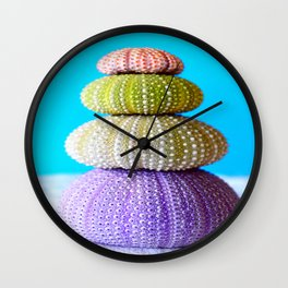 Oursin color coquillage Wall Clock
