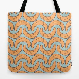 blue food seamless pattern with many croissants Tote Bag