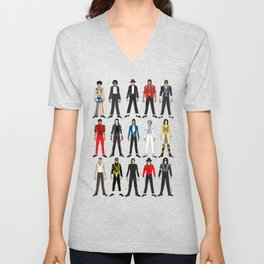 Outfits of King MJ Pop Music Unisex V-Neck