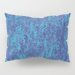 Blue and Purple Watercolor Abstract Pillow Sham