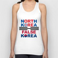 korea Tank Tops featuring North Korea by pollylitical