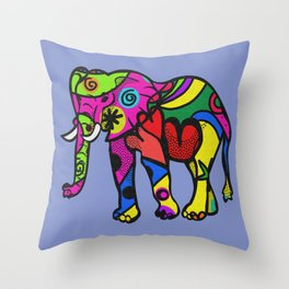 psychedelephant Throw Pillow