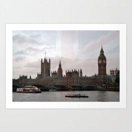 London River Scene Art Print