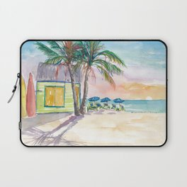 Caribbean Surf Beach Bar Boards and Sunset Laptop Sleeve
