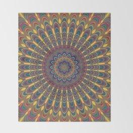 Bohemian oval mandala Throw Blanket