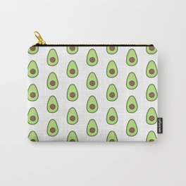 Avocado Pattern (white) Carry-All Pouch