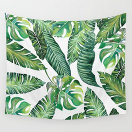 Jungle Leaves, Banana, Monstera #society6 Wall Tapestry