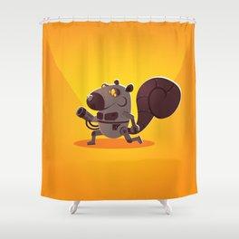 Robo Squirrel Shower Curtain