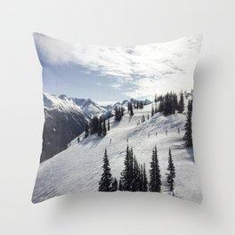 Whistler Mountain Canada  Throw Pillow