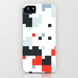 The accent color - Random pixel pattern in red white and blue iPhone Case