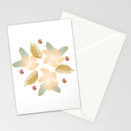 Autumn flowers - orange and ochre Stationery Cards