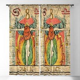 Justice Vintage Tarot Card Blackout Curtain