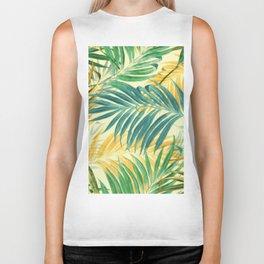 Palm Leaves in Yellow Biker Tank