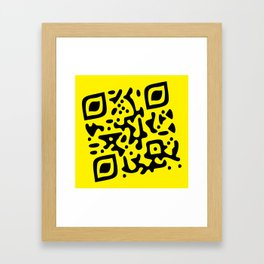 QR Clothes Yellow Framed Art Print