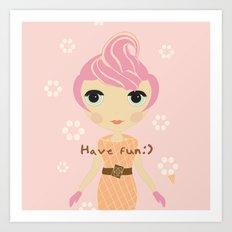 Ice-cream Girl Art Print