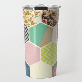 Florals and Stripes Travel Mug