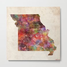 Missouri map Metal Print