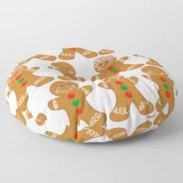 Gingerbread Couple Boy Girl Floor Pillow