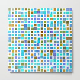 color rectangles 009 - blue and brown Metal Print