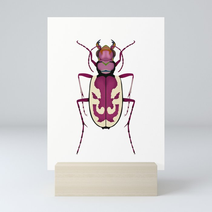 Blowout Tiger Beetle Mini Art Print