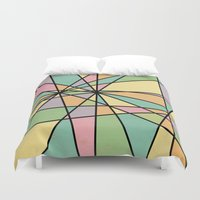 stained glass Duvet Covers featuring Stained Glass by Tammy Kushnir