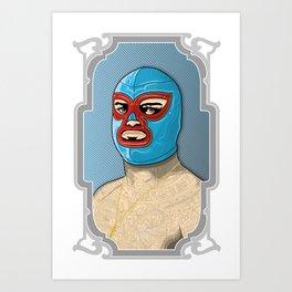 nacho libre, el campeon! Art Print