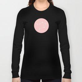 Libra Star Sign Soft Pink Circle Long Sleeve T-shirt