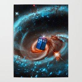 flying tardis in galaxy Poster