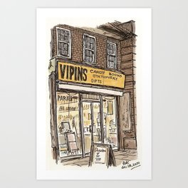 Vipins. Burnt Oak Art Print