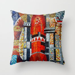Spaceships Will Cross The Sky Throw Pillow