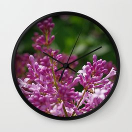 Spring lilac Wall Clock