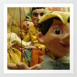 Puppet Party Art Print