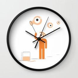 visual bubbles Wall Clock