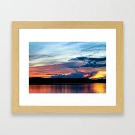 La Conner Sunset Framed Art Print
