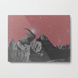 Rhino Mountain red Metal Print