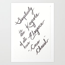 Coco Quote Art Print