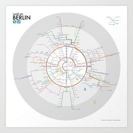 rund um Berlin Art Print