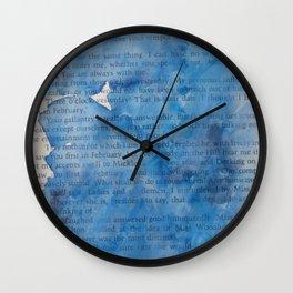 Deep Blues Wall Clock