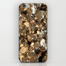 Golden Pyrite Mineral iPhone Skin