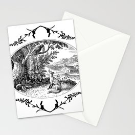 the fox and the crow Stationery Cards