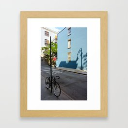 Shadows on a Greenwich Village street, NYC Framed Art Print