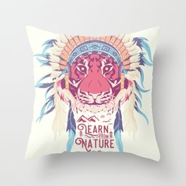 Learn from Nature Throw Pillow