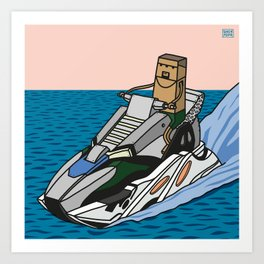 wave runner Art Print