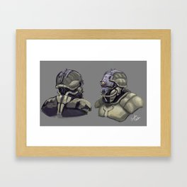 Mining Soldier Framed Art Print